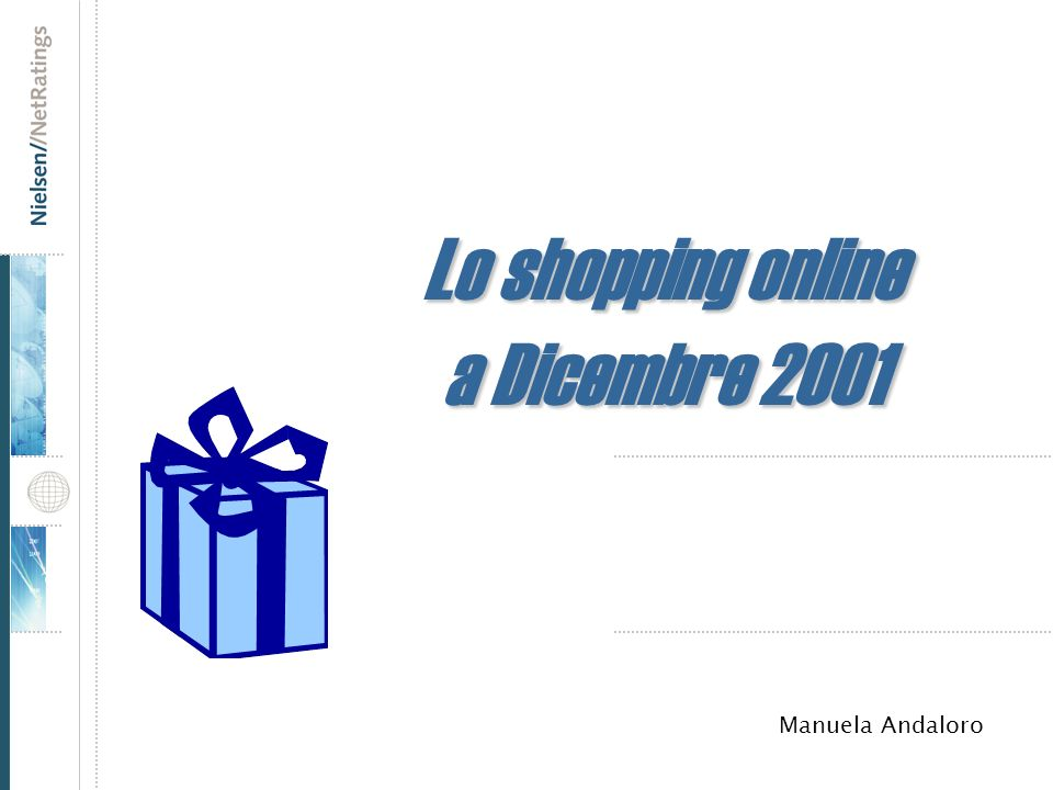 Lo shopping online a Dicembre 2001