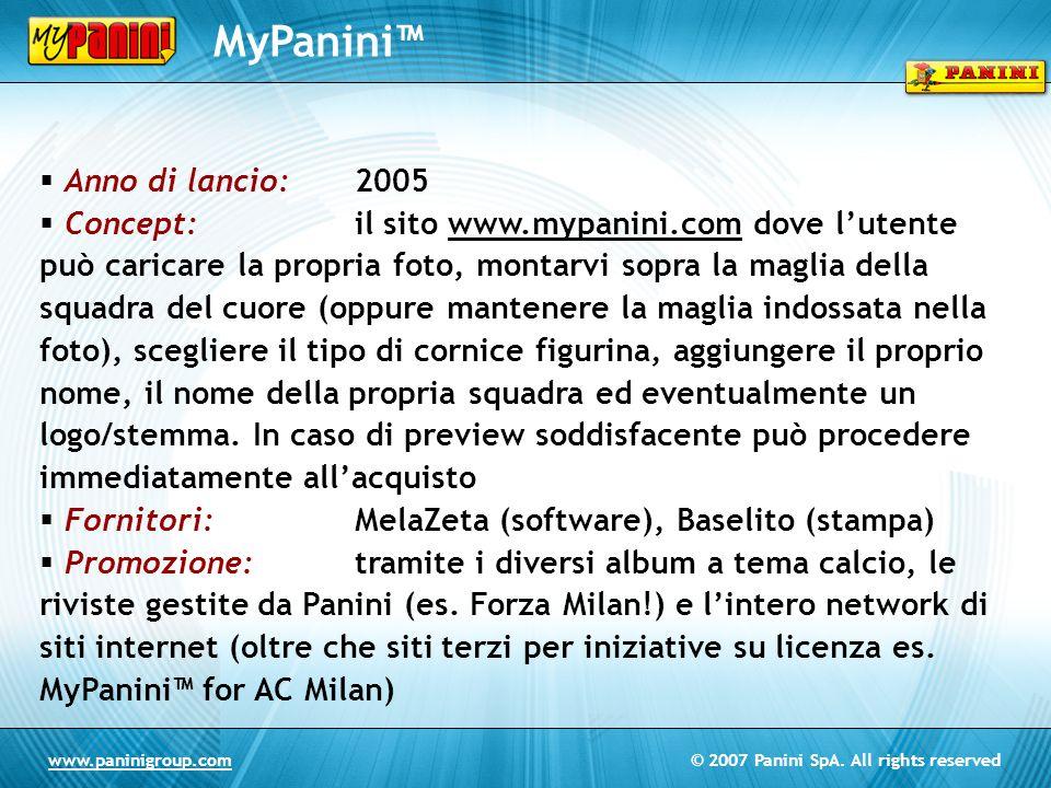 MyPanini™ Anno di lancio: 2005
