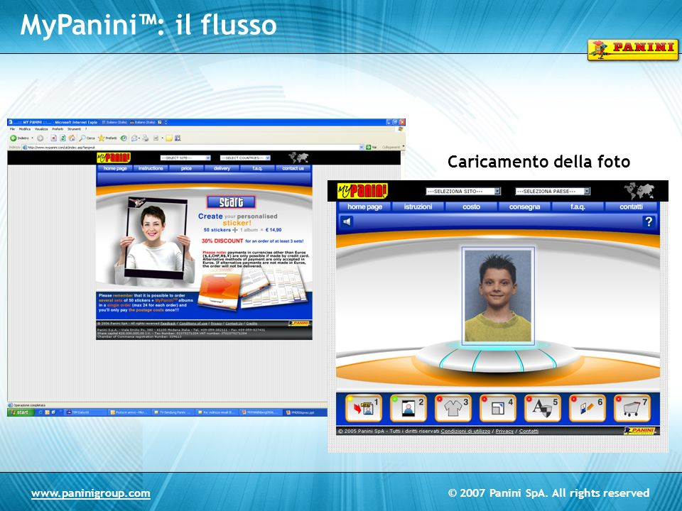 MyPanini™: il flusso Caricamento della foto