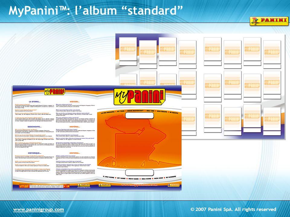 MyPanini™: l'album standard