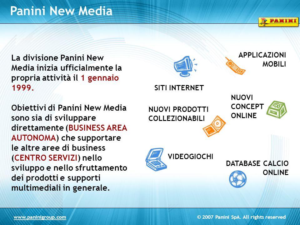 Panini New Media APPLICAZIONI MOBILI. La divisione Panini New Media inizia ufficialmente la propria attività il 1 gennaio 1999.