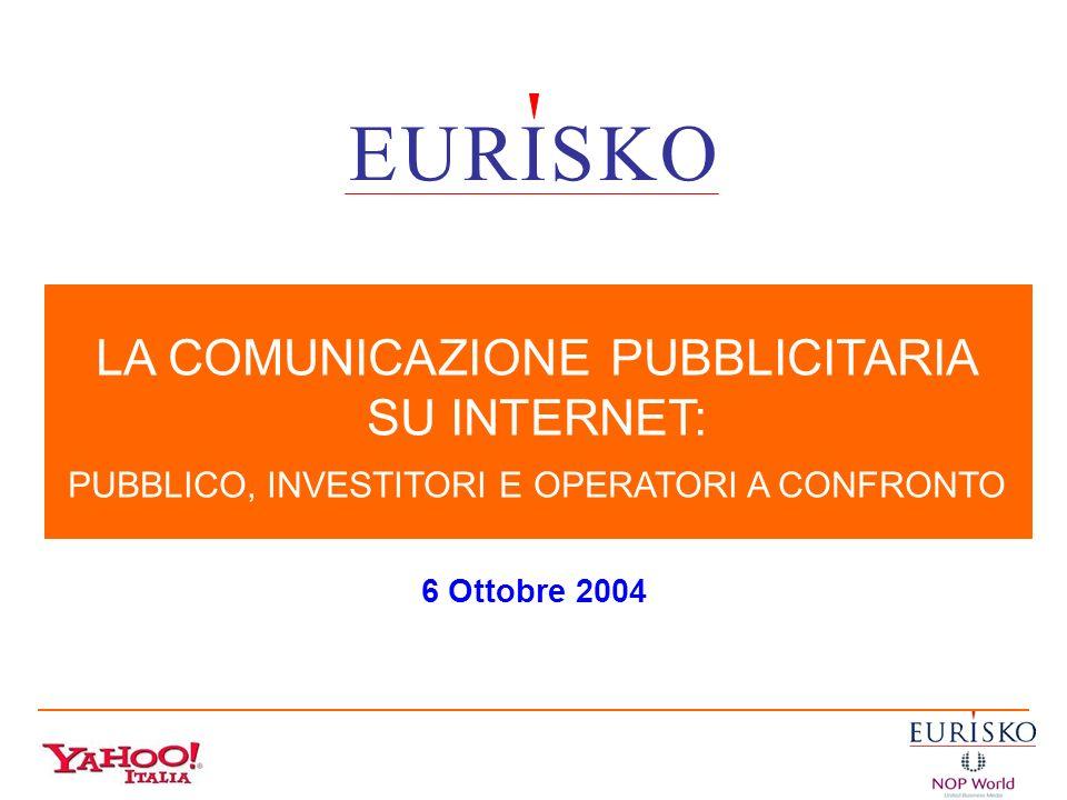 E U R I S K O LA COMUNICAZIONE PUBBLICITARIA SU INTERNET: