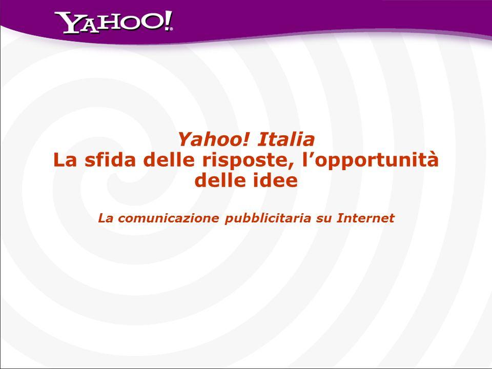 Yahoo! Italia La sfida delle risposte, l'opportunità delle idee