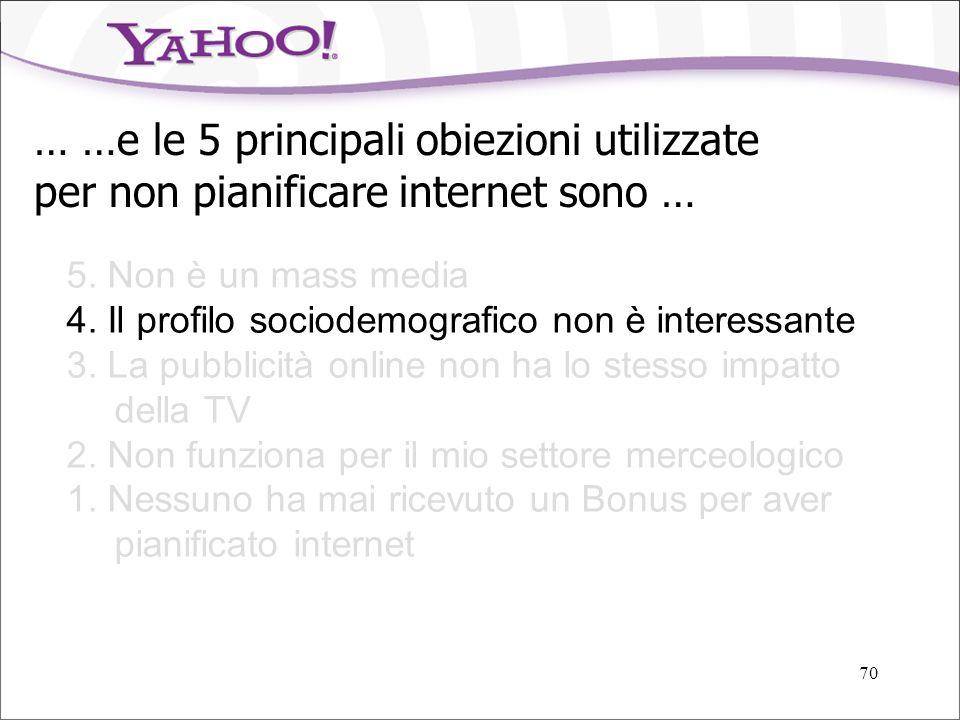 … …e le 5 principali obiezioni utilizzate per non pianificare internet sono …
