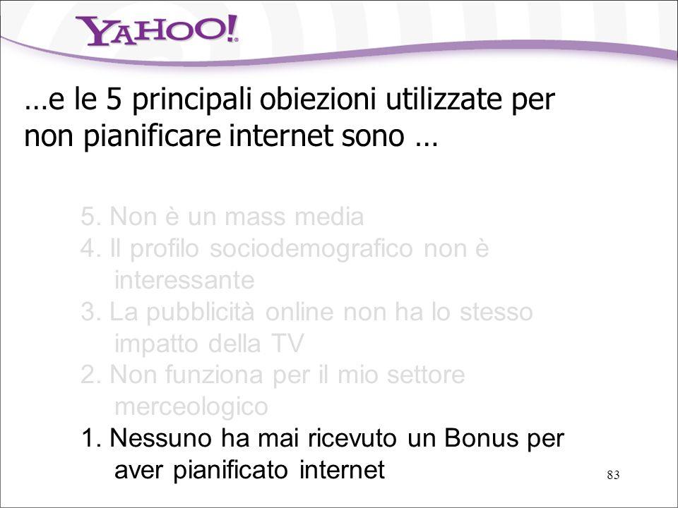 …e le 5 principali obiezioni utilizzate per non pianificare internet sono …