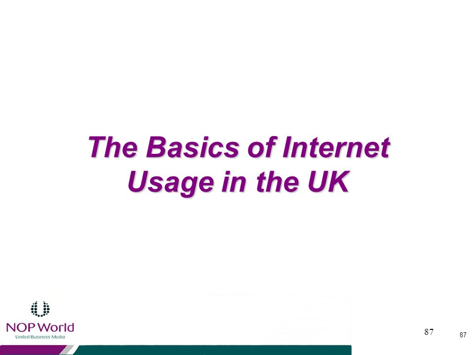 The Basics of Internet Usage in the UK