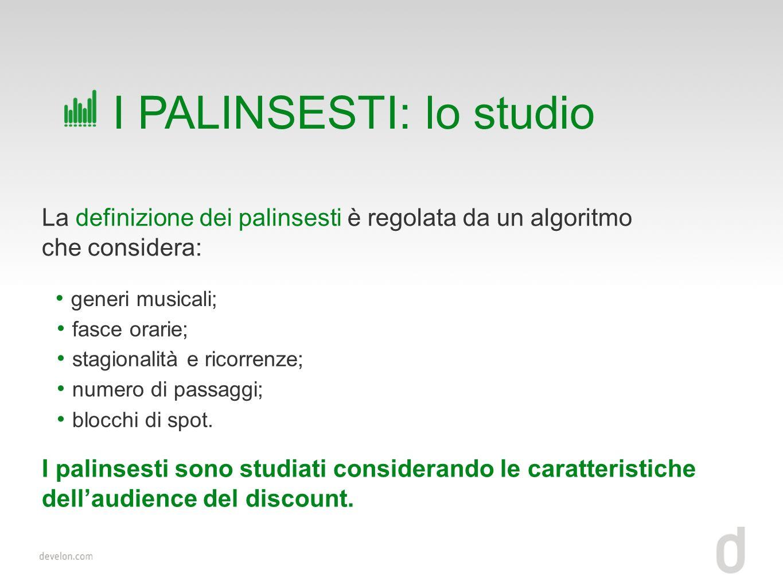 I PALINSESTI: lo studio