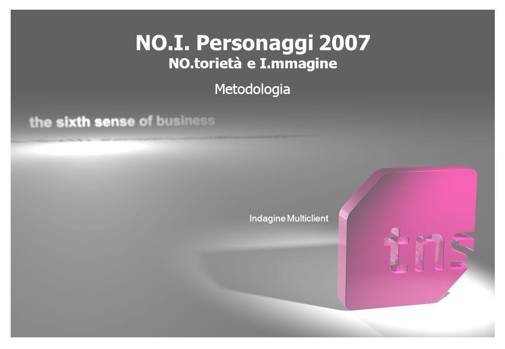 NO.I. Personaggi 2007 NO.torietà e I.mmagine Metodologia