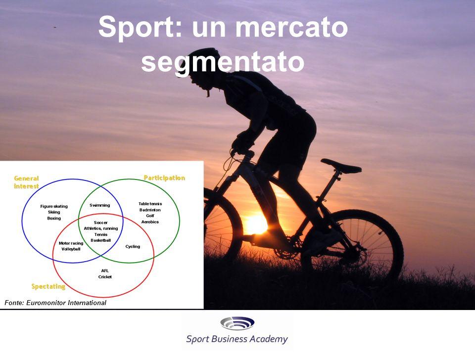 Sport: un mercato segmentato
