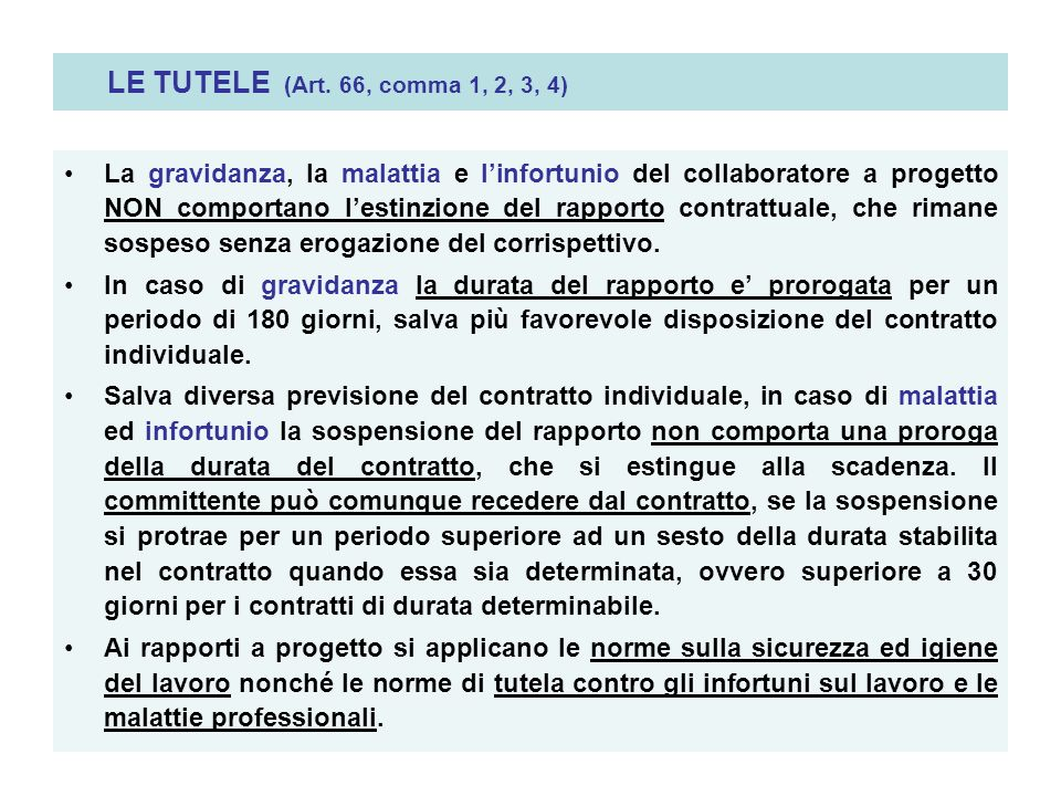 LE TUTELE (Art. 66, comma 1, 2, 3, 4)