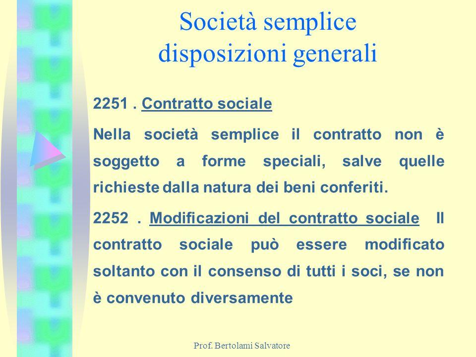Società semplice disposizioni generali