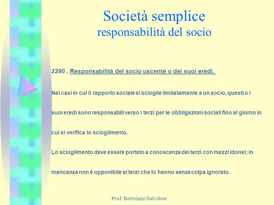 Società semplice responsabilità del socio
