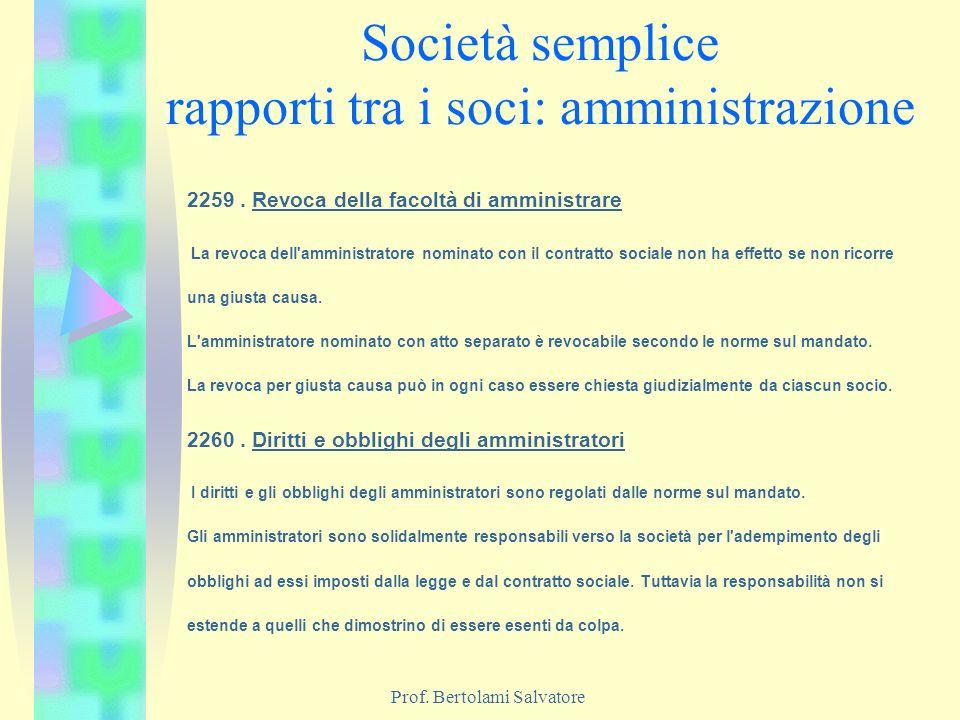 Società semplice rapporti tra i soci: amministrazione