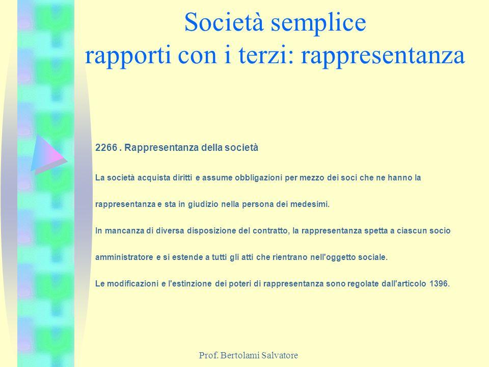 Società semplice rapporti con i terzi: rappresentanza