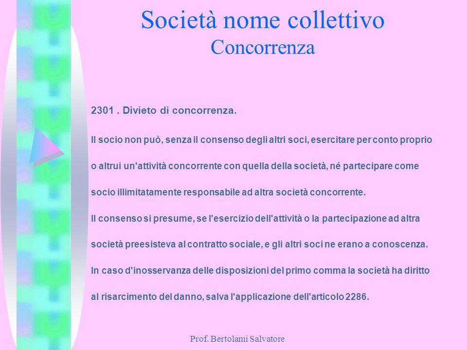 Società nome collettivo Concorrenza