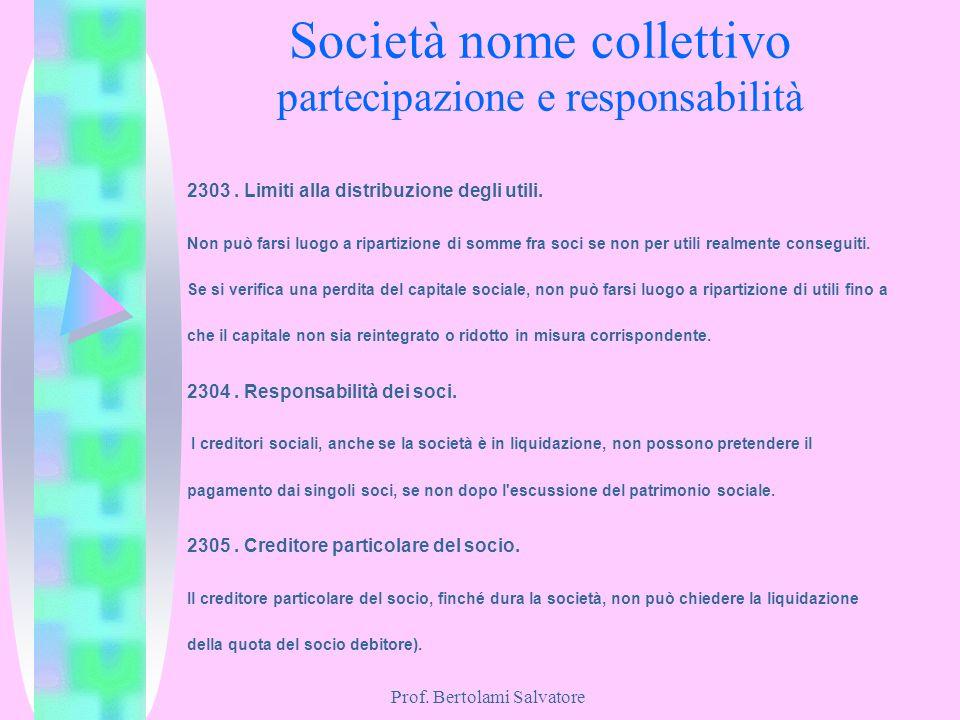 Società nome collettivo partecipazione e responsabilità