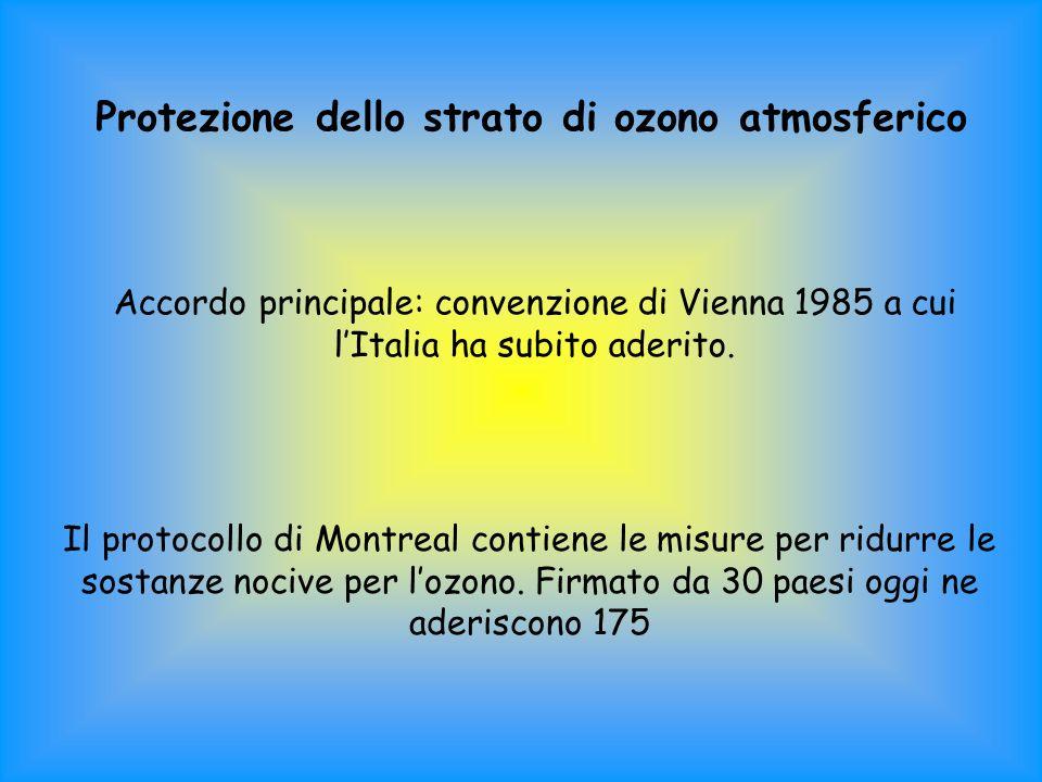 Protezione dello strato di ozono atmosferico