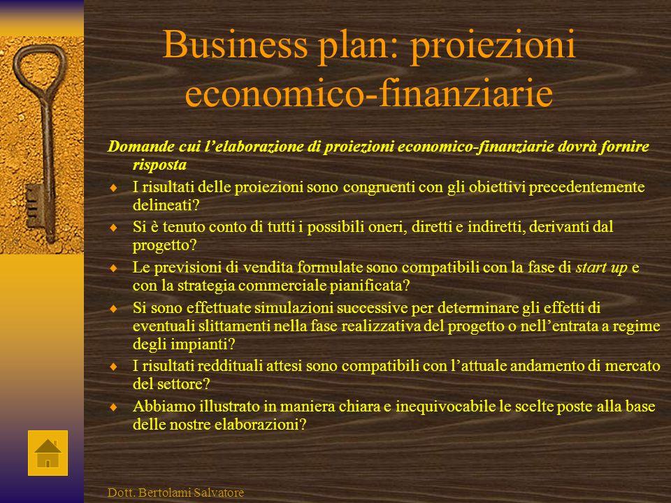 Business plan: proiezioni economico-finanziarie