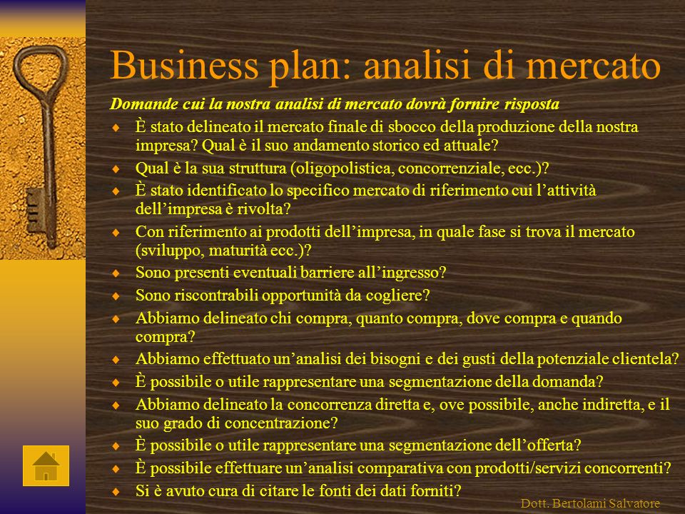 Business plan: analisi di mercato