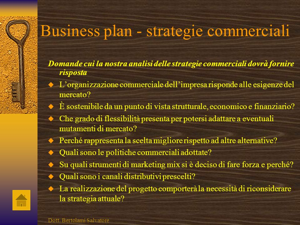 Business plan - strategie commerciali