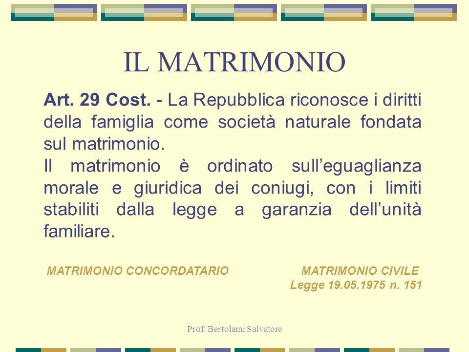 MATRIMONIO CONCORDATARIO MATRIMONIO CIVILE