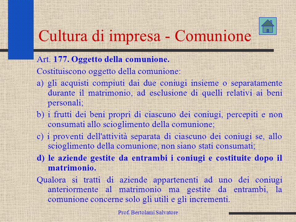 Cultura di impresa - Comunione