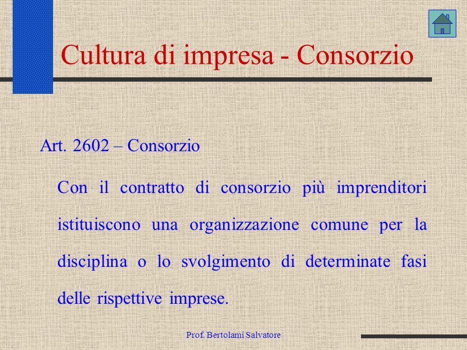 Cultura di impresa - Consorzio