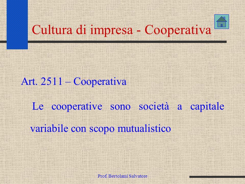 Cultura di impresa - Cooperativa