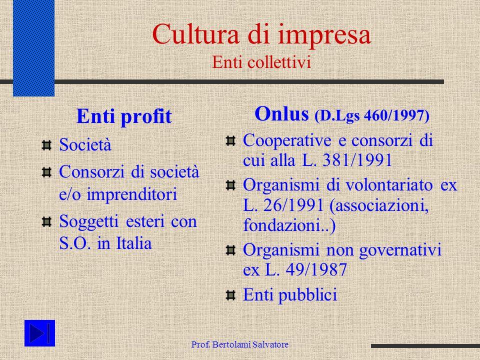 Cultura di impresa Enti collettivi