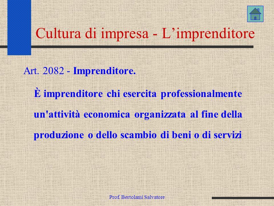 Cultura di impresa - L'imprenditore