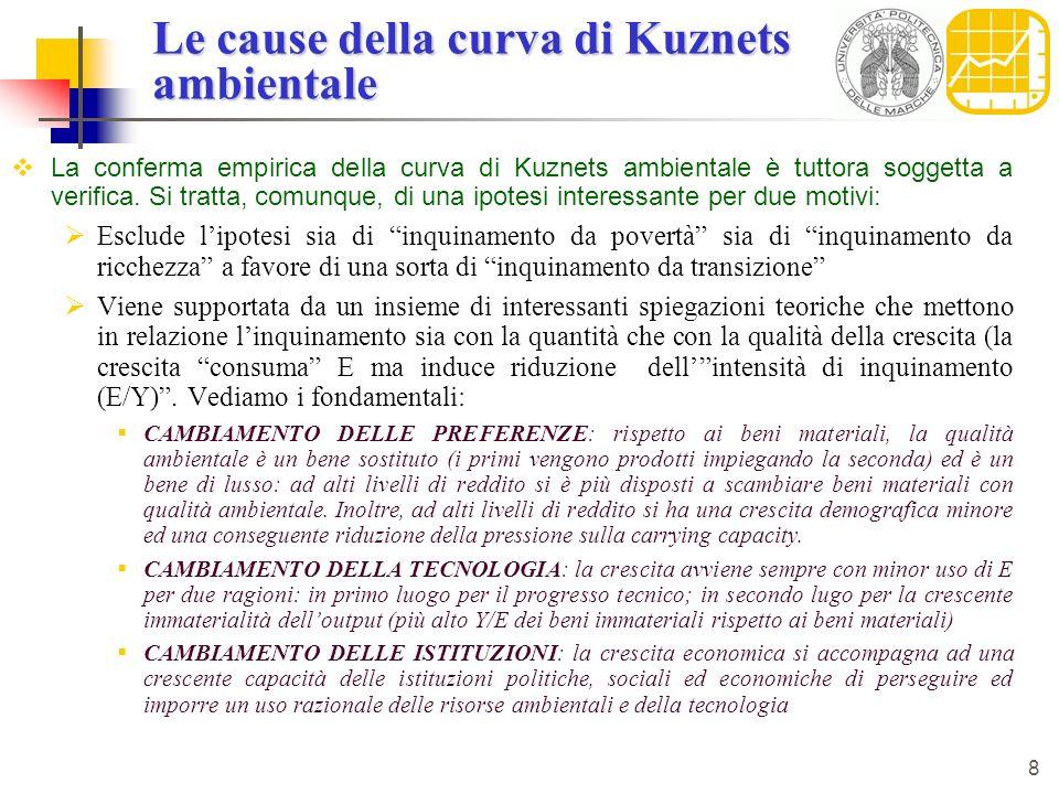 Le cause della curva di Kuznets ambientale