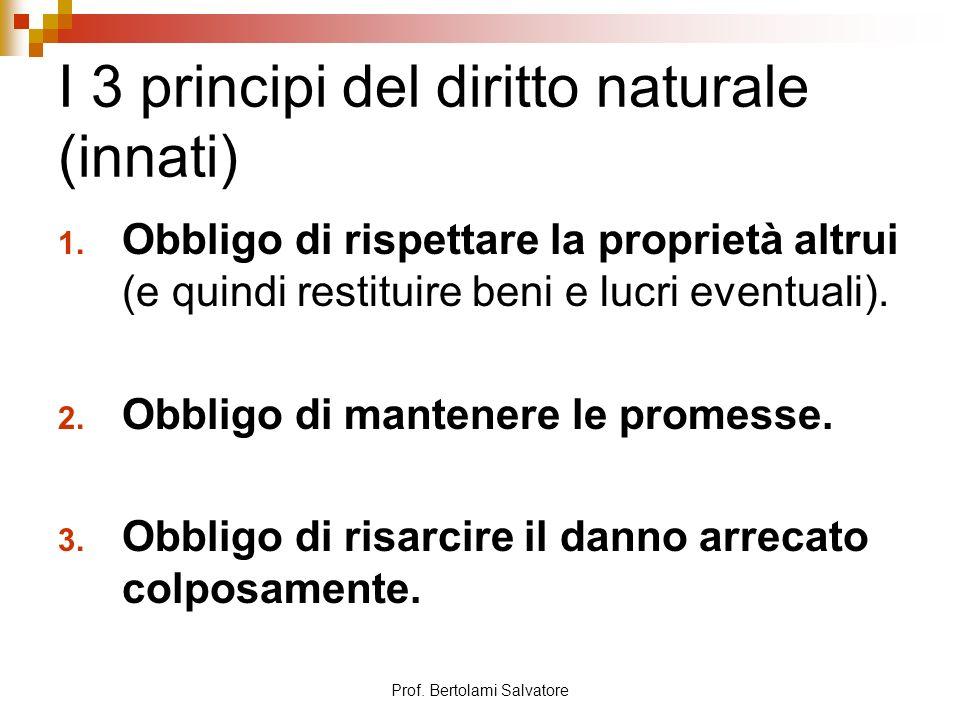 I 3 principi del diritto naturale (innati)