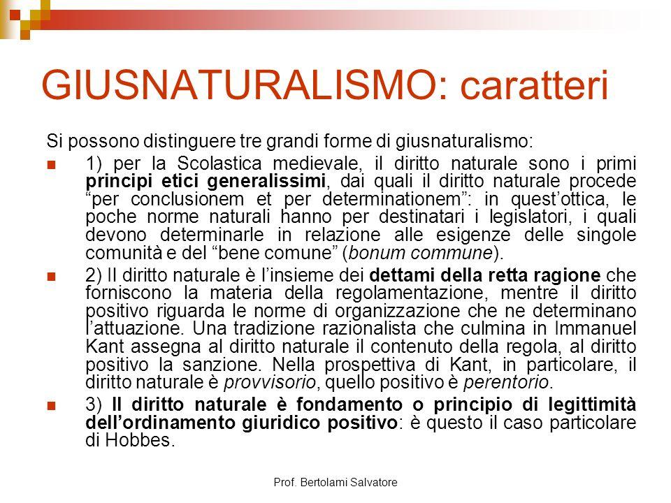 GIUSNATURALISMO: caratteri