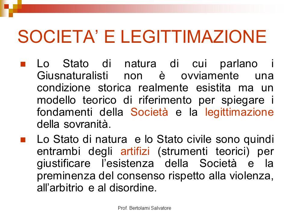 SOCIETA' E LEGITTIMAZIONE
