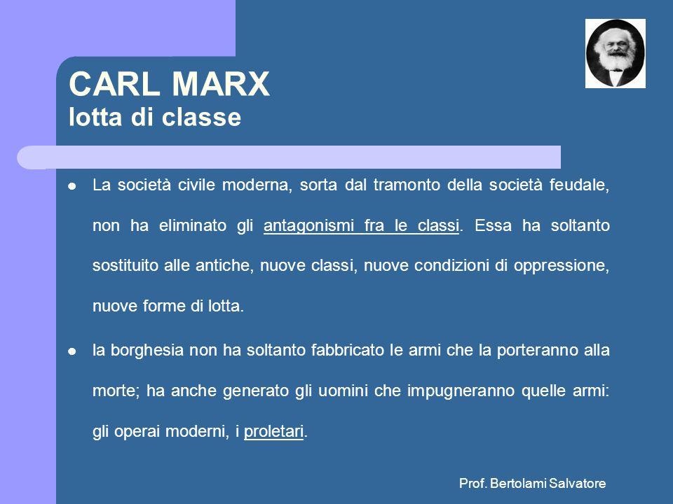 CARL MARX lotta di classe