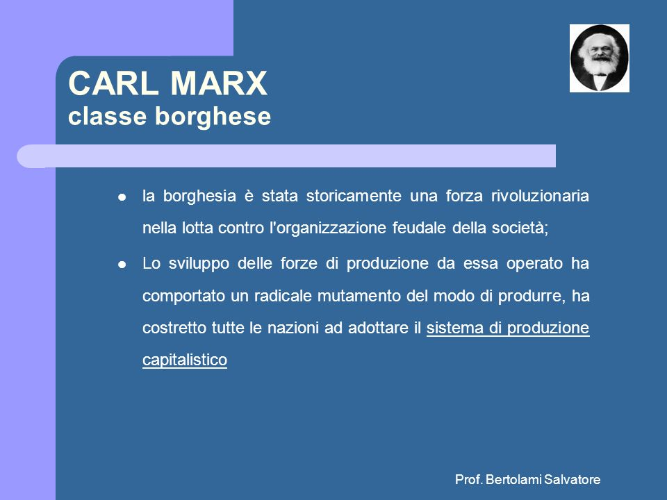 CARL MARX classe borghese