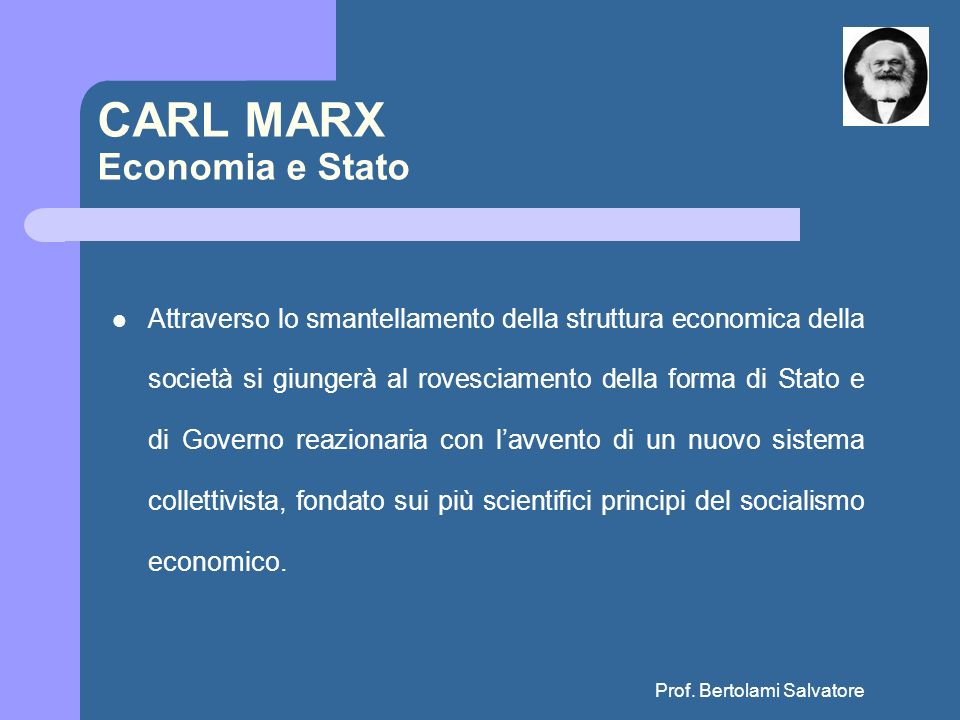 CARL MARX Economia e Stato