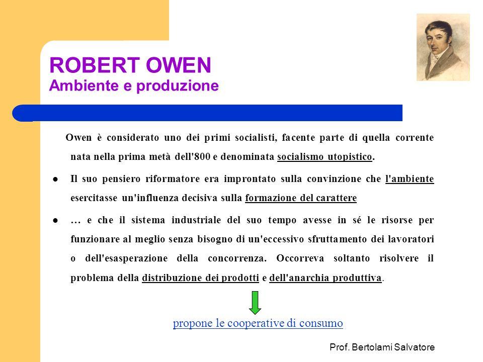 ROBERT OWEN Ambiente e produzione