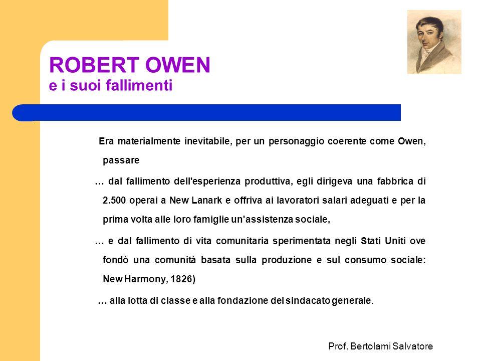 ROBERT OWEN e i suoi fallimenti