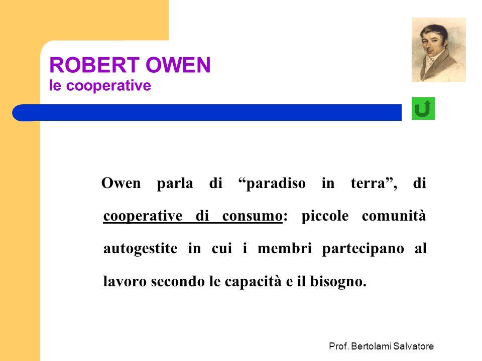 ROBERT OWEN le cooperative