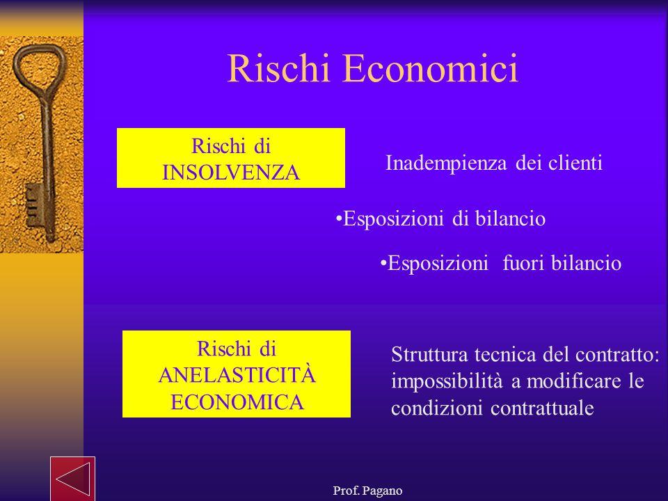 Rischi di ANELASTICITÀ ECONOMICA