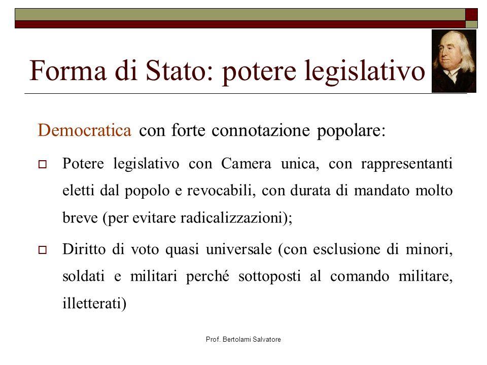 Forma di Stato: potere legislativo