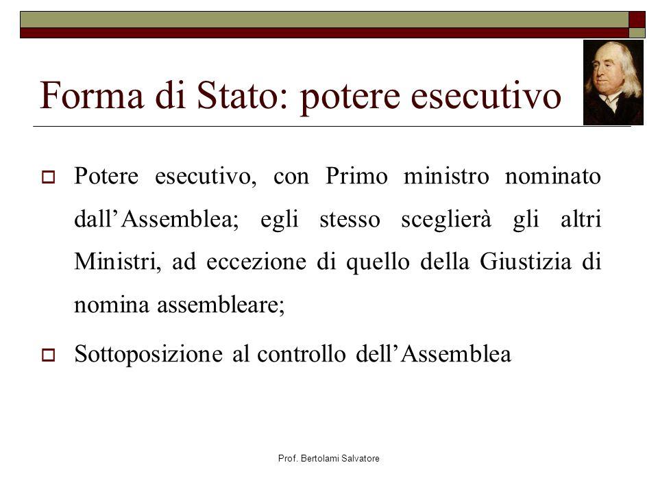 Forma di Stato: potere esecutivo