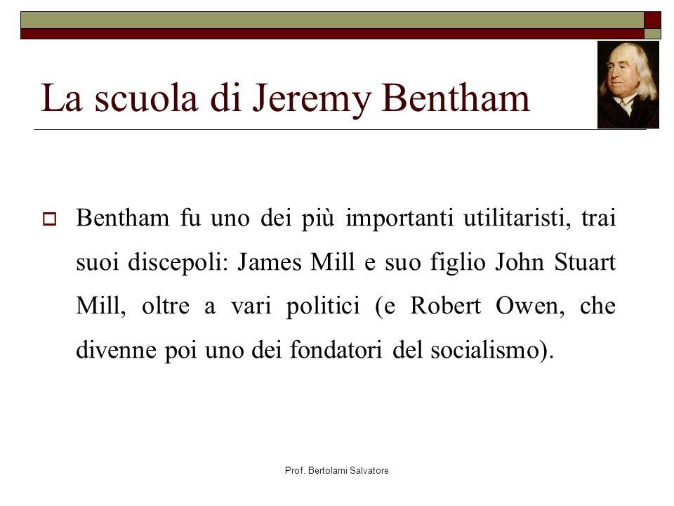 La scuola di Jeremy Bentham