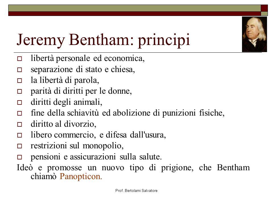 Jeremy Bentham: principi