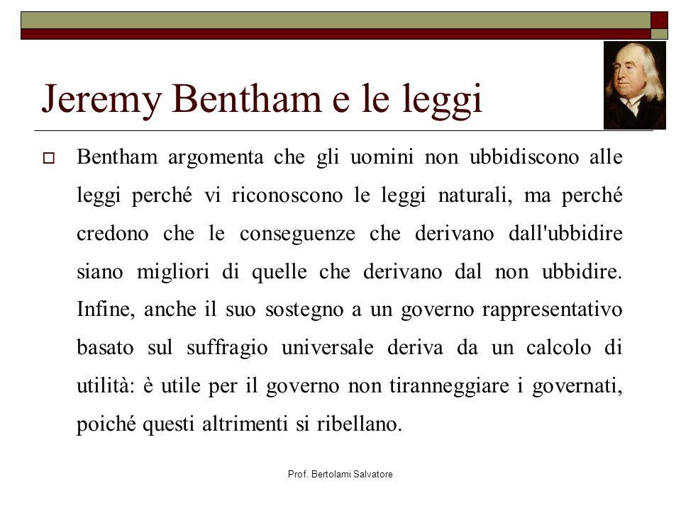 Jeremy Bentham e le leggi