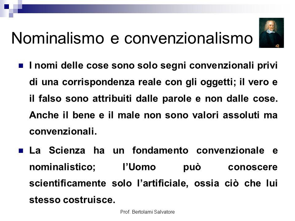 Nominalismo e convenzionalismo
