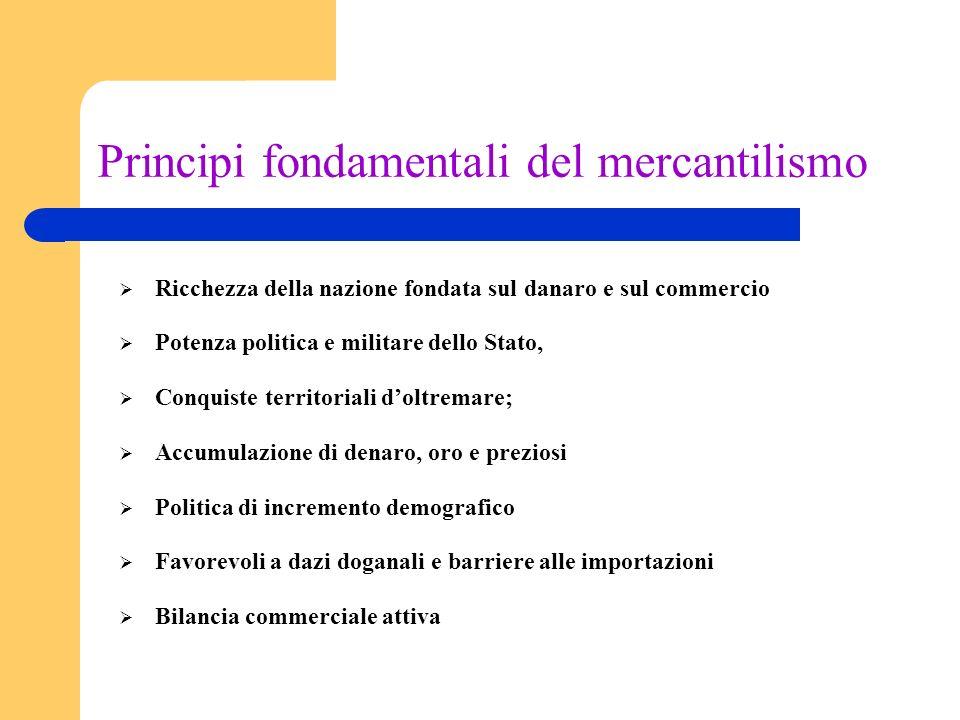 Principi fondamentali del mercantilismo