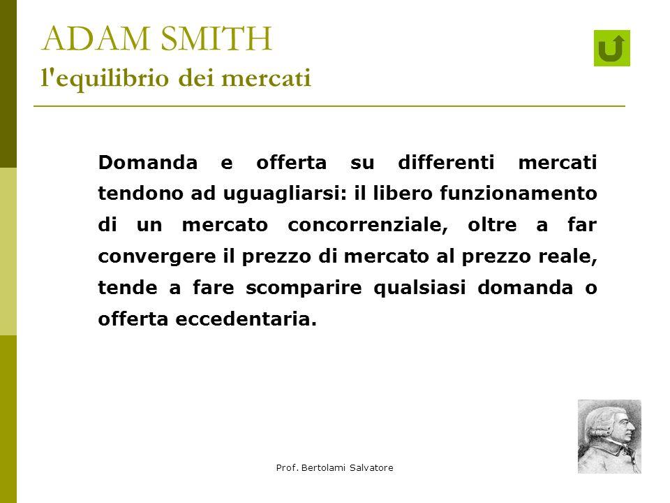 ADAM SMITH l equilibrio dei mercati