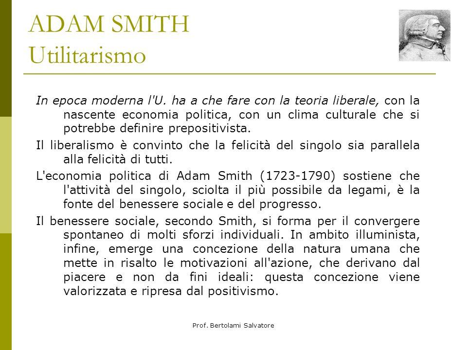 ADAM SMITH Utilitarismo